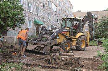В Бирске по проекту «Городская среда» идет ремонт 13 дворов