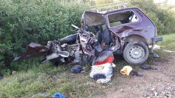В Башкирии при столкновении двух автомобилей погибли 3 человека