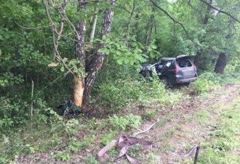 Кювет и дерево: в Башкирии погиб водитель Toyota Land Cruiser