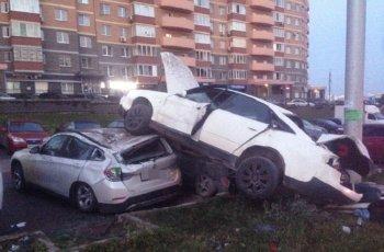«Пьяное» ДТП с участием шести автомобилей произошло в Башкирии