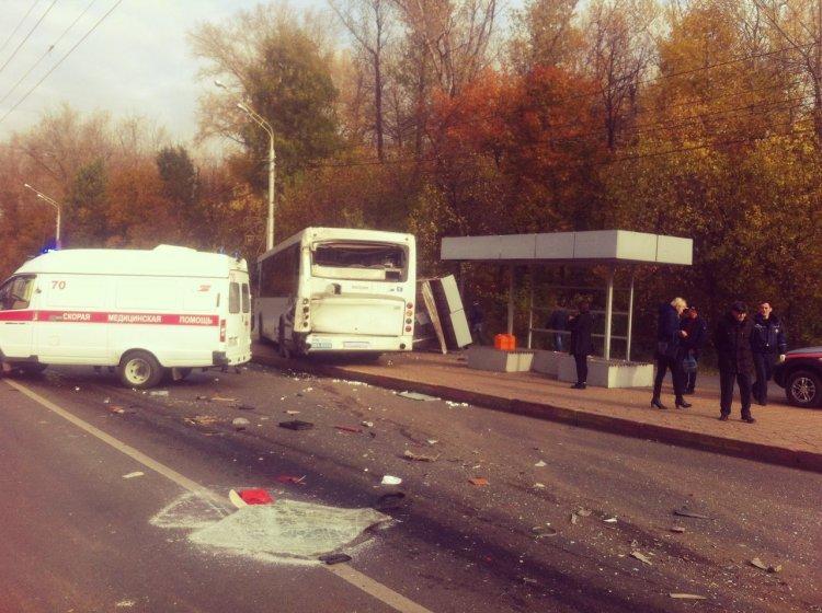 В Уфе столкнулись два автобуса: пострадали 9 человек
