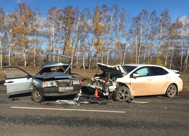 Смертельное ДТП: в Башкирии столкнулись ВАЗ-2109 и Toyota Corolla