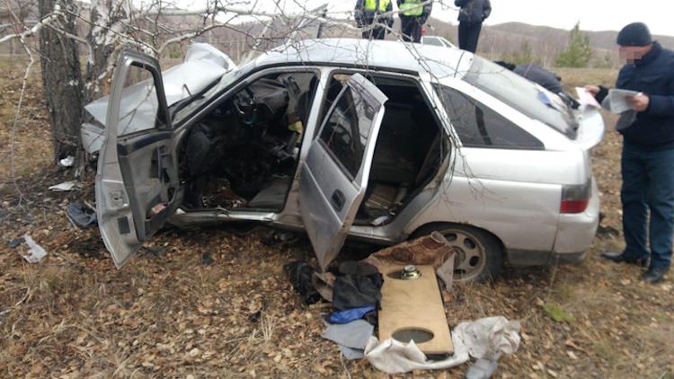 В Башкирии автомобиль съехал в кювет и наехал на дерево, есть жертва