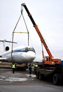 В уфимском аэропорту «эвакуировали» самолет с невыпущенной передней опорой шасси