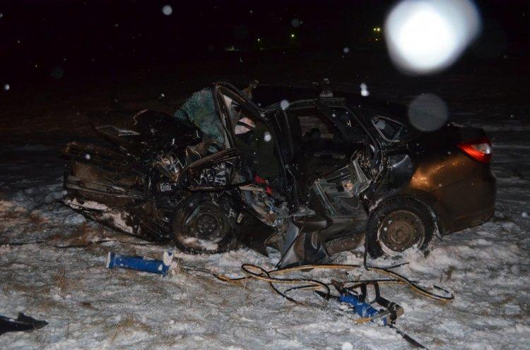В Башкирии 31-летний водитель «Гранты» разбился в столкновении с «SsangYong»