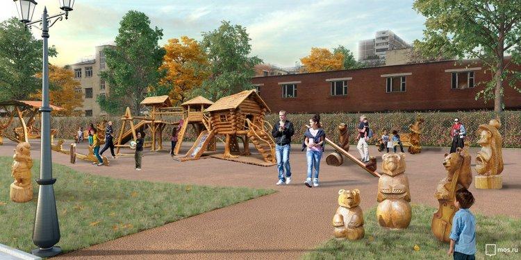 Памп-трек и избушка Бабы-яги: каким станет Детский Черкизовский парк в Москве