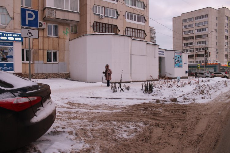 После обращения ОНФ на парковке около Башкирской специальной библиотеки для слепых появился знак «Инвалид»