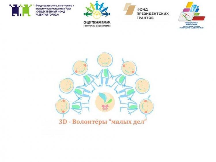 В Республике Башкортостан стартует проект «3D» - волонтёры «малых дел»
