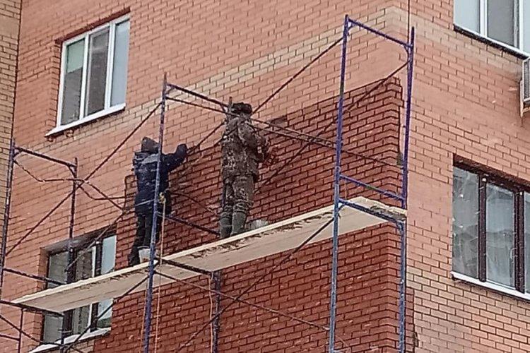 В Уфе восстановили фасад жилого дома по улице Дагестанской