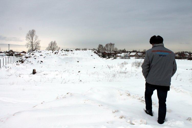 Активисты ОНФ в Республике Башкортостан взяли на контроль свалку строительных отходов в селе Жилино