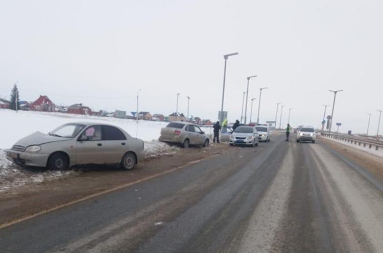 Пристолкновении автомобилей вБашкирии пострадала пожилая женщина