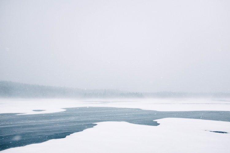 В Уфе спасли замерзающую на льду молодую женщину
