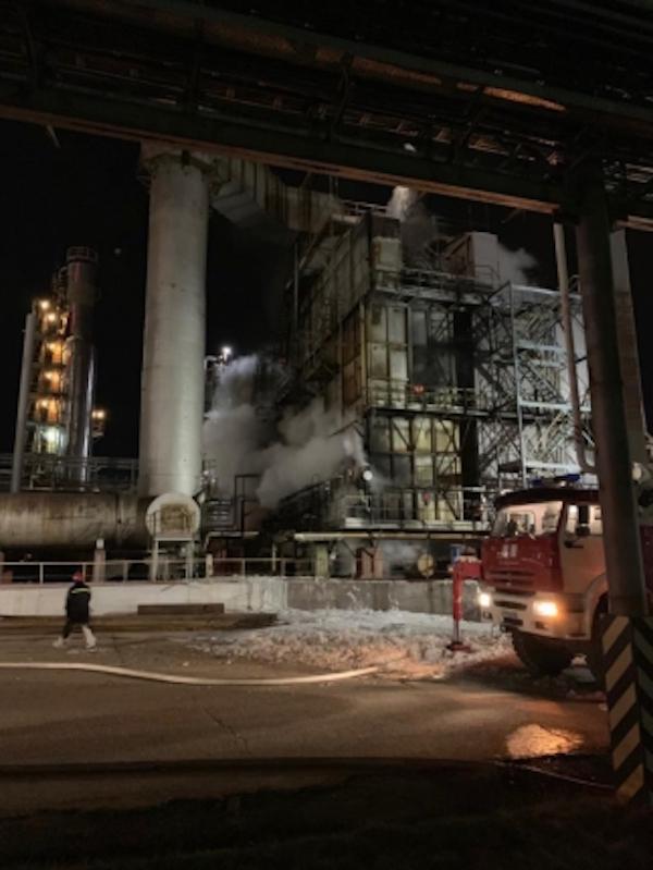 В Уфе на заводе «Башнефти» произошел крупный пожар
