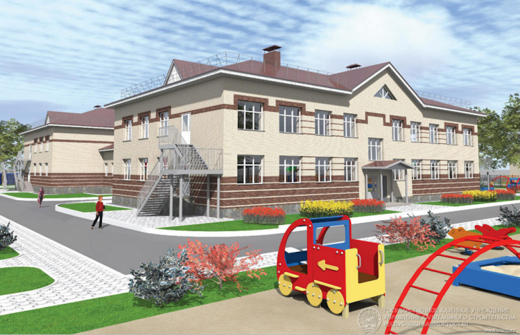 В Белебее с опережением графика строится детский сад
