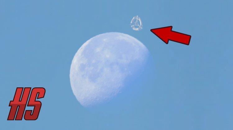 Возле Луны замечена неизвестная космическая станция