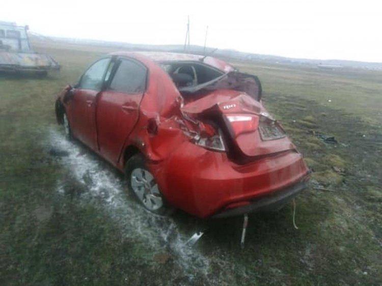 В Башкирии пьяный водитель опрокинул авто в кювет, пострадал ребенок