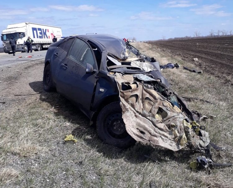 Смертельное ДТП: в Башкирии столкнулись Nissan Primera и МАЗ