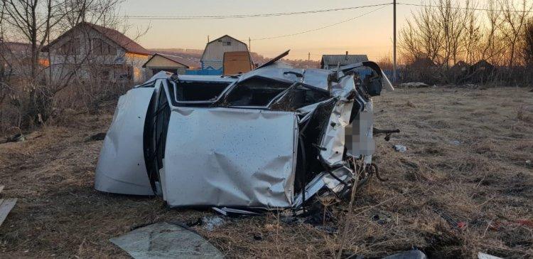 В Стерлитамакском районе пьяный водитель опрокинул машину в кювет