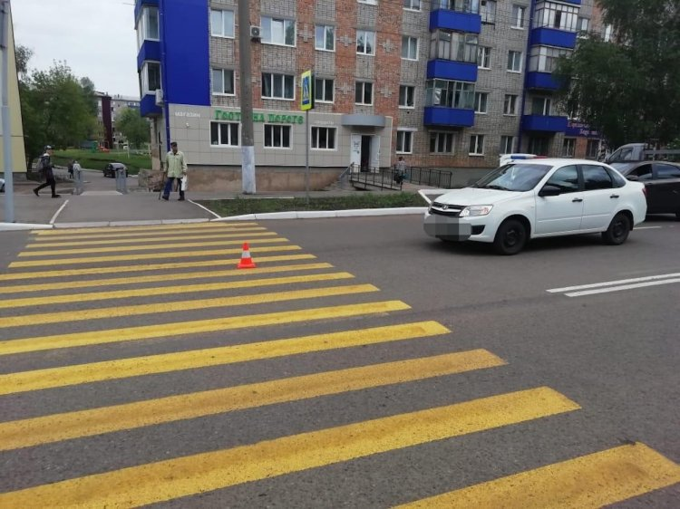 В Башкирии 81-летний водитель «Лады Гранты» сбил женщину на «зебре»