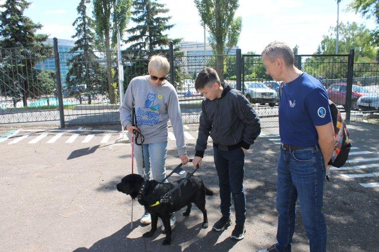 Активисты ОНФ в Башкирии провели со школьниками занятие о собаках-поводырях