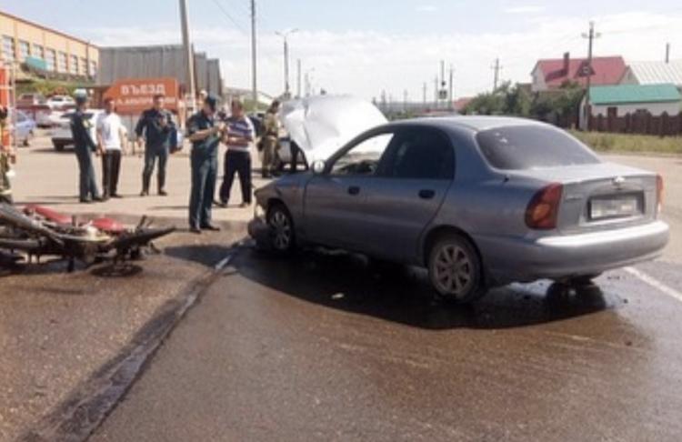 В Башкирии мотоциклист пострадал при столкновении с Chevrolet Lanos
