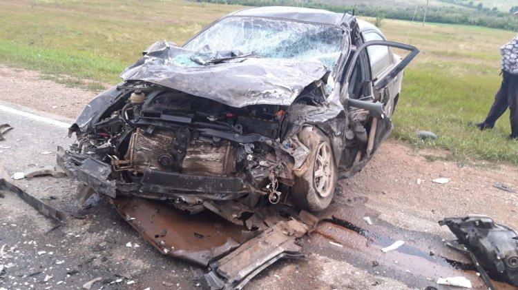 Автомобиль превратился в груду железа после ДТП в Башкирии