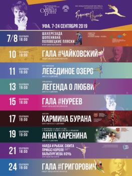 Известна программа XXII Международного фестиваля балетного искусства имени Рудольфа Нуреева в Уфе