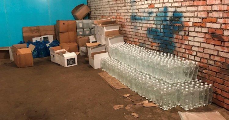 Сотрудниками БЭП в Стерлитамаке выявлен факт производства контрафактной спиртосодержащейся продукции