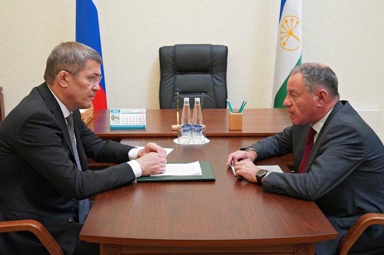 Радий Хабиров встретился с генеральным директором Корпорации МСП Александром Браверманом