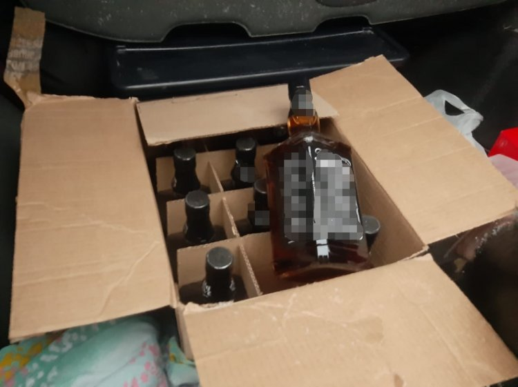 В Башкирии сотрудниками ГИБДД был задержан водитель с контрафактным алкоголем
