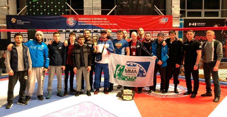 Сборная Башкортостана по ММА привезла с Чемпионата и Первенства ПФО золотые медали