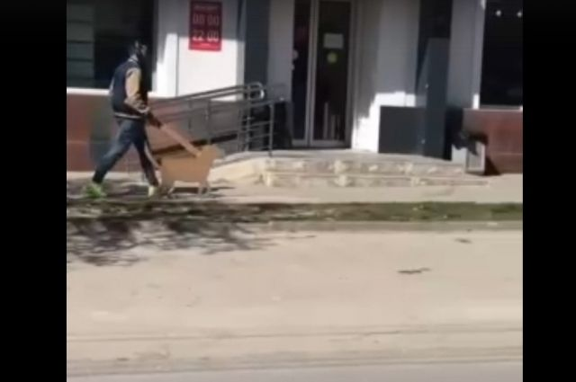 Житель Ростова-на-Дону для обхода ограничений выгуливал картонную собачку