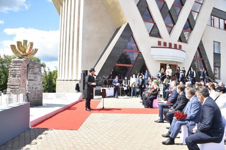В Уфе открыли памятник «В память о жертвах Холокоста и воинах, погибших в годы Великой Отечественной войны»