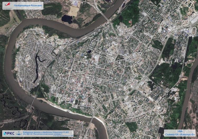 Роскосмос опубликовал фото Уфы, сделанное со спутника