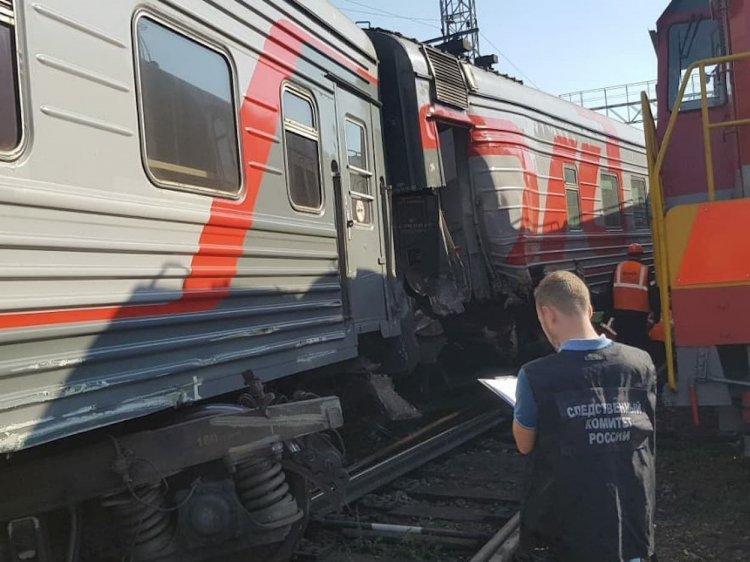 В Уфе сошли с рельсов два вагона поезда