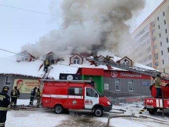 Пожар в Стерлитамаке: из горящего здания ночного клуба эвакуировались 8 человек
