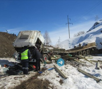 58-летний житель Оренбургской области погиб в Башкирии за рулем грузовика