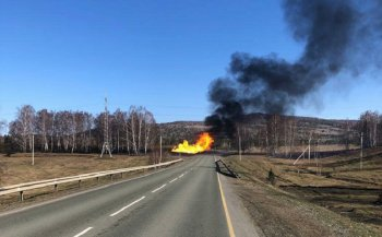 Крупный пожар на газопроводе в Белорецком районе Башкирии прекратился