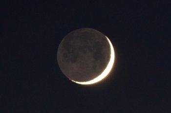 «Молодую Луну в объятиях старой Луны» смогут увидеть жители Башкирии 15 и 16 мая