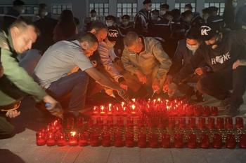 В Башкирии прошла акция «Огненные картины войны»