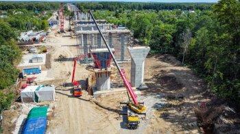 Мост через реку на строящемся Восточном выезде из Уфы готов уже на 20 процентов